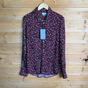 Zara floral button down dress shirt SZ S men New